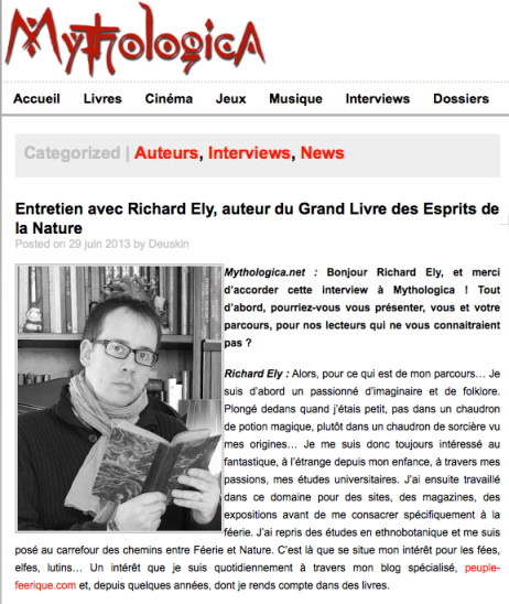 Interview de Richard Ely